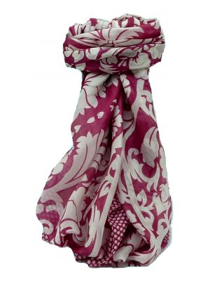 Mulberry Silk Contemporary Square Scarf Sindhi Ruby by Pashmina & Silk