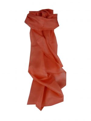 Mulberry Silk Hand Dyed Long Scarf Watermelon from Pashmina & Silk