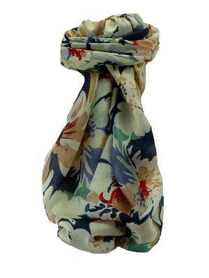 Mulberry Silk Contemporary Square Scarf Beas Blue by Pashmina & Silk