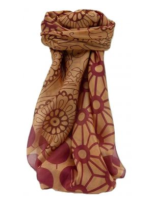 Mulberry Silk Contemporary Square Scarf Musi Red by Pashmina & Silk