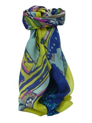 Mulberry Silk Contemporary Square Scarf Palar Multicolor by Pashmina & Silk