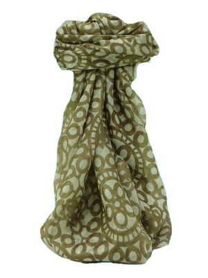 Mulberry Silk Contemporary Square Scarf Moyar Chestnut by Pashmina & Silk