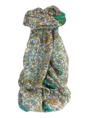 Mulberry Silk Traditional Long Scarf Sarita Emerald by Pashmina & Silk