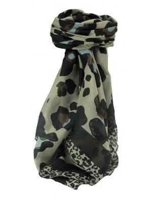 Mulberry Silk Contemporary Square Scarf Penyar Black by Pashmina & Silk