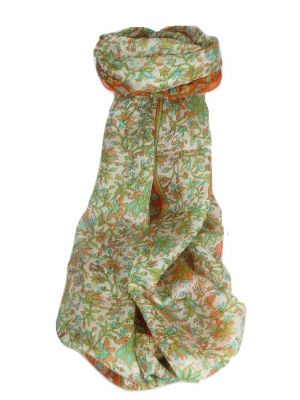 Mulberry Silk Traditional Long Scarf Sarita Terracotta by Pashmina & Silk