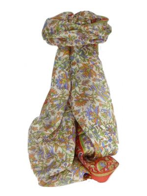 Mulberry Silk Traditional Long Scarf Sarita Flame by Pashmina & Silk