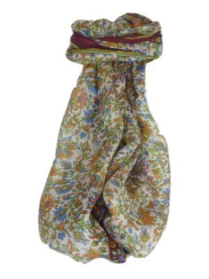 Mulberry Silk Traditional Long Scarf Sarita Wine by Pashmina & Silk