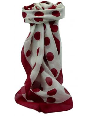 Mulberry Silk Contemporary Square Scarf Aji Red by Pashmina & Silk