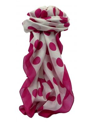 Mulberry Silk Contemporary Square Scarf Aji Pink by Pashmina & Silk