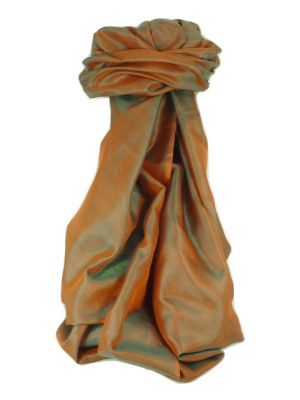 Varanasi Silk Long Scarf Heritage Range Madan 2 Jade by Pashmina & Silk