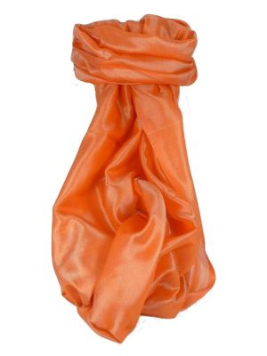 Varanasi Silk Long Scarf Heritage Range Madan 3 Peach by Pashmina & Silk