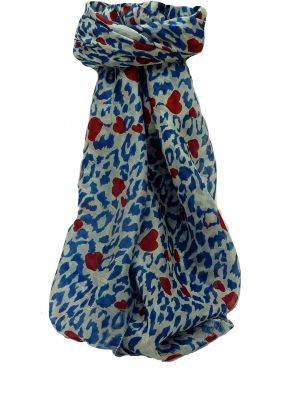 Mulberry Silk Contemporary Square Scarf Mandori Blue by Pashmina & Silk