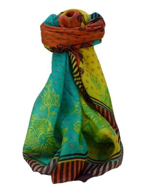 Mulberry Silk Contemporary Long Scarf Kamet Multicolor by Pashmina & Silk