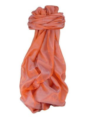 Varanasi Silk Long Scarf Heritage Range Madan 7 Rose by Pashmina & Silk