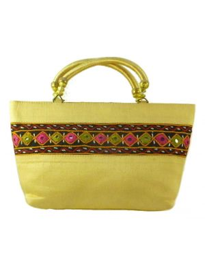 Silk Handbag Divya 07 Silk Sauvage at Pashmina & Silk