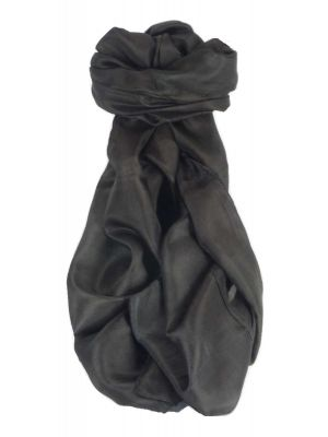 Mulberry Silk Classic Hand Dyed Long Scarf Black from Pashmina & Silk