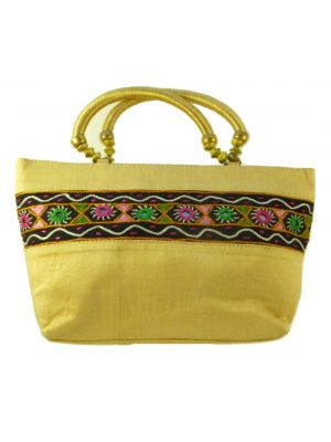 Silk Handbag Divya 08 Silk Sauvage at Pashmina & Silk