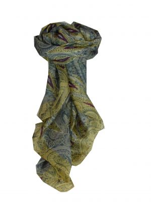 Mulberry Silk Contemporary Square Scarf Paraka Quartz by Pashmina & Silk