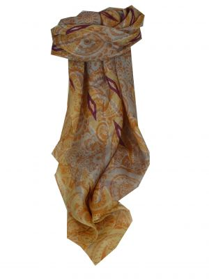 Mulberry Silk Contemporary Square Scarf Paraka Sand by Pashmina & Silk