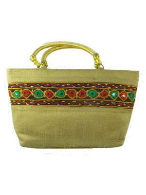 Silk Handbag Divya 11 Silk Sauvage at Pashmina & Silk