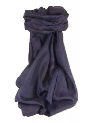 Mulberry Silk Classic Hand Dyed Square Scarf Dark Blue from Pashmina & Silk
