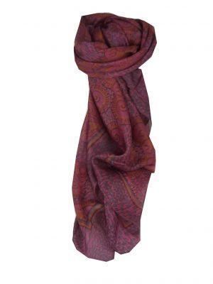 Mulberry Silk Contemporary Square Scarf Samra Cerise by Pashmina & Silk