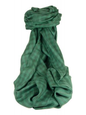 Cashmere Srinagar Muffler Scarf Small Check Emerald by Pashmina & Silk