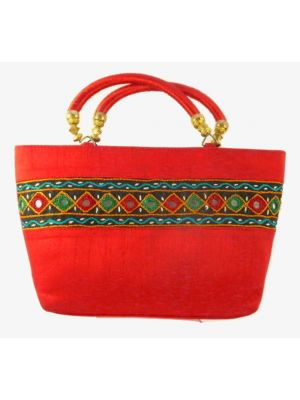 Silk Handbag Divya 05 Silk Sauvage at Pashmina & Silk