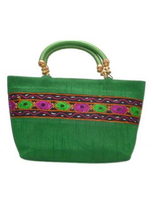 Silk Handbag Divya 13 Silk Sauvage at Pashmina & Silk