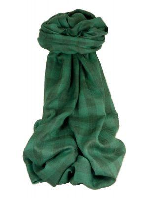 Cashmere Srinagar Muffler Scarf Large Check Emerald by Pashmina & Silk