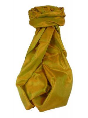 Varanasi Silk Long Scarf Heritage Range Jana 4 Gold by Pashmina & Silk