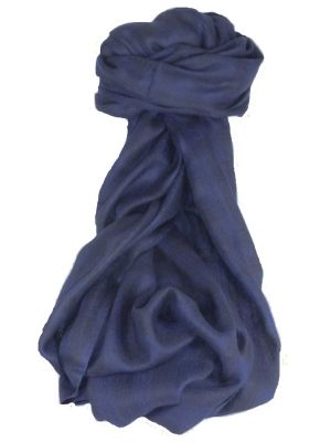 Cashmere Srinagar Muffler Scarf Medium Check Dark Blue by Pashmina & Silk