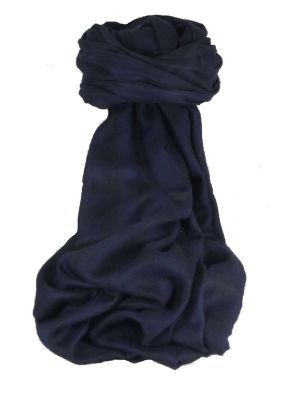 Cashmere Srinagar Muffler Scarf Large Check Dark Blue by Pashmina & Silk