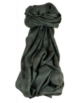 Cashmere Srinagar Muffler Scarf Medium Check Charcoal by Pashmina & Silk