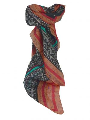 Mulberry Silk Contemporary Square Scarf Houri Multicoloured by Pashmina & Silk