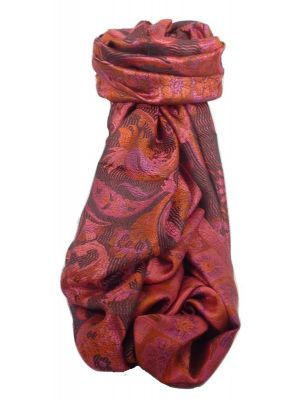 Mens Jamawar Premium Silk Scarf Pattern 4319 by Pashmina & Silk