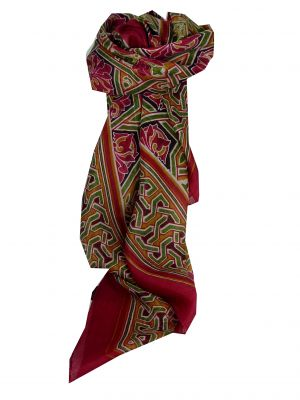 Mulberry Silk Contemporary Square Scarf Disha Fuchsia by Pashmina & Silk