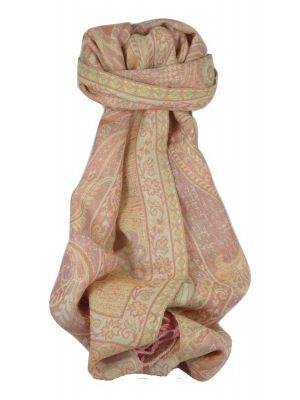 Muffler Scarf 3433 in Fine Pashmina Wool Heritage Range by Pashmina & Silk