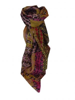 Mulberry Silk Contemporary Square Scarf Bahar Cerise by Pashmina & Silk