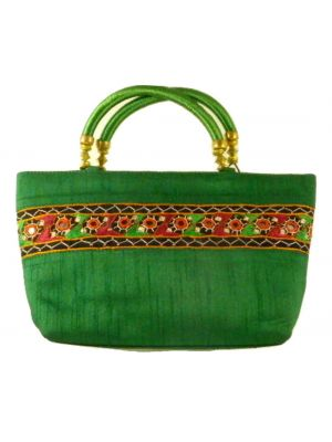 Silk Handbag Divya 12 Silk Sauvage at Pashmina & Silk