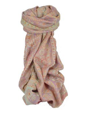 Muffler Scarf 4263 in Fine Pashmina Wool Heritage Range by Pashmina & Silk