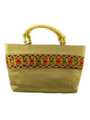 Silk Handbag Divya 09 Silk Sauvage at Pashmina & Silk