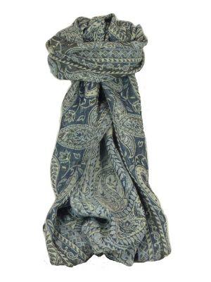 Muffler Scarf 4393 in Fine Pashmina Wool Heritage Range by Pashmina & Silk
