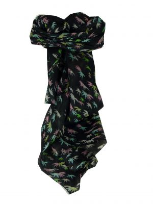 Mulberry Silk Classic Square Scarf Vari Black by Pashmina & Silk
