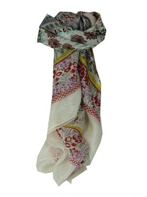 Mulberry Silk Classic Square Scarf Yasmine Cream by Pashmina & Silk