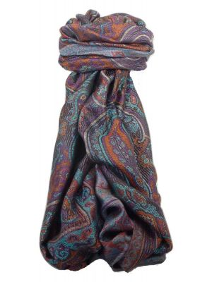 Premium Silk Stole Pattern 8539 by Pashmina & Silk