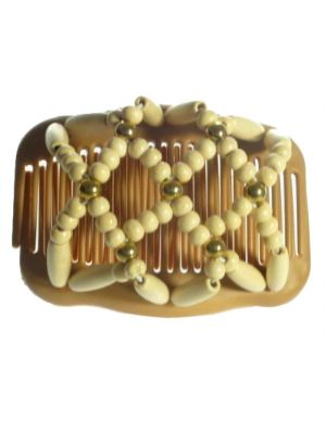Chignon Comb 701 Ivory & Gold from TIKITIBOO by Pashmina & Silk