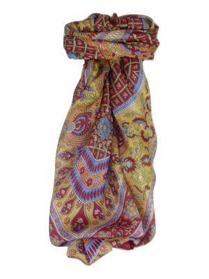 Mulberry Silk Classic Square Scarf Ushma Wine by Pashmina & Silk