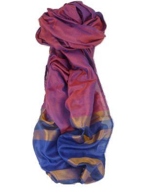Varanasi Border Prime Silk Long Scarf Heritage Chaudry 807 by Pashmina & Silk