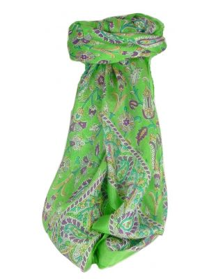 Mulberry Silk Classic Square Scarf Tashi Citron Vert by Pashmina & Silk